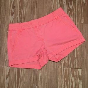 J. Crew 2 Pink Khaki Chino Shorts